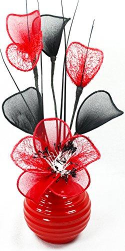 Flourish Künstliche Blume in Vase, Rot, 32 cm