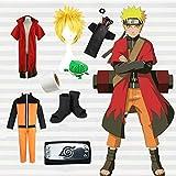 Li Largo Temático Animado de Cosplay Naruto Uzumaki Cosplay hidromasaje Principal Capa...