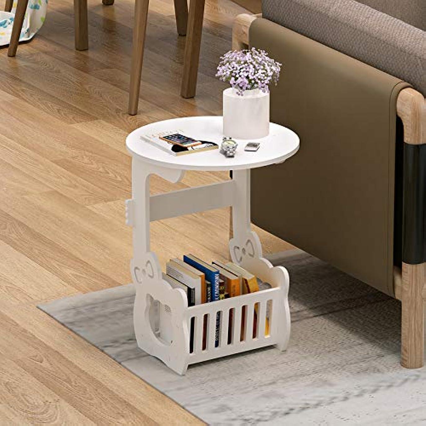 トイレリダクター義務Love life ベッドサイドの小さな丸いテーブルのリビングルーム、小さな丸いレジャーティーテーブル