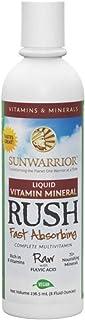 Sunwarrior - Liquid Vitamin Mineral Rush, Fast Absorbing Raw Vegan Phytonutrients with B Vitamins, 24 Servings (8 fl oz)