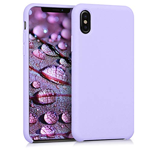 kwmobile Funda Compatible con Apple iPhone X - Carcasa de TPU para móvil - Cover Trasero en Lila
