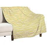 Manta de bebé unisex para niños/niñas/recién nacidos, estilo acuarela rayas desiguales, tonos amarillos, impresión en tono pastel, cálida y suave manta para cuna cochecito siesta, 75 x 100 cm