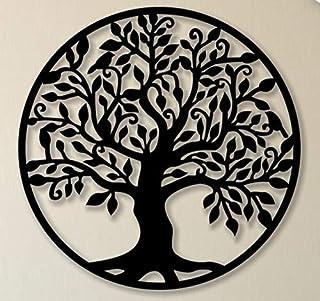 WALLCENTRE ART BEYOND IMAGINATION Mild Steel Tree of Life Circle Shape Metal Wall Hanging Art Home Decor for Living Room, ...