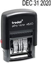Trodat Printy Economy Date Stamp, Self-Inking, Stamp Impression Size: 3/8 x 1-1/4 Inches, Black (E4820)