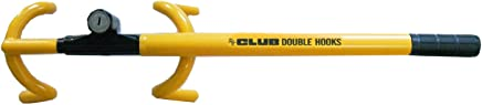 The Club 3000 Twin Hooks Steering Wheel Lock, Yellow