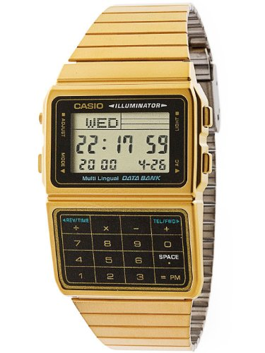 Casio DBC611G-1D Casio Gold & Black Digital Watch