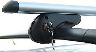 VDP Alu Relingträger Rio 120 kompatibel mit Peugeot 207 Break Kombi ab '07 bis abschliessbar