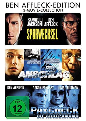 Ben Affleck Edition : Spurwechsel - Der Anschlag - Paycheck - 3DVD Box