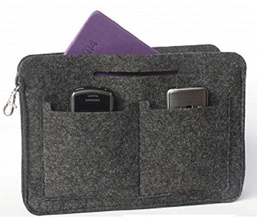 Taschenorganizer Handtaschenordner Organizer für Taschen Handtaschen Organizer Tasche Organizer Filz Schwarz