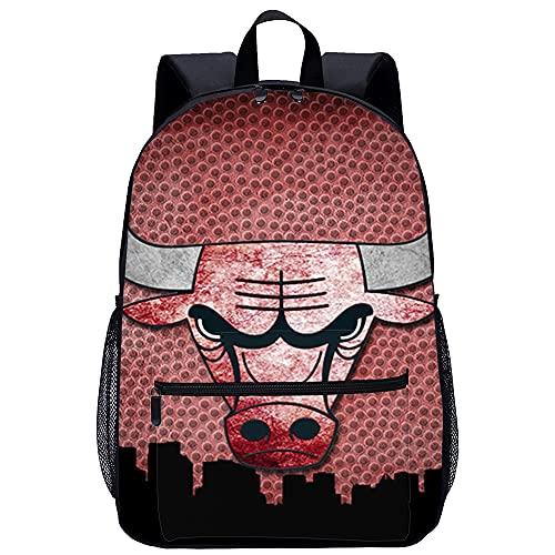 RomantiassLu Chicago Bulls NBA Mochila Mochila escolar impresa en 3D Mochilas escolares para niñas adolescentes Mochilas ligeras Mochila de moda