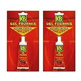 KB JARDIN - Lote de 2 tubos de gel antihormigas (30 g)