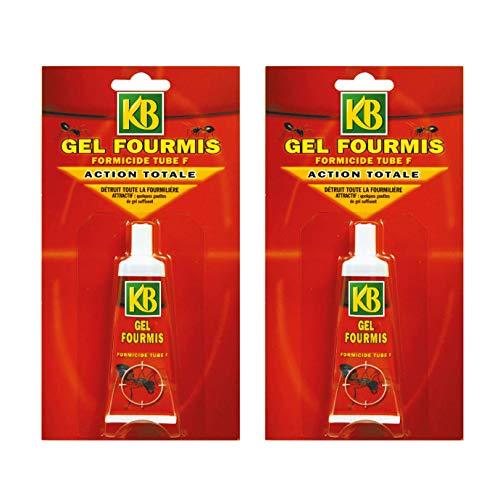 puissant Lot KB JARDIN Anti Fourmis, 2 tubes de gel de 30 grammes