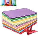 Papel para Papiroflexia 100 hojas 10 Colores Papel de color A4 30 * 21cm para Manualidades DIY Proyectos de Artes y Manualidades