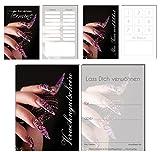 150 Teile Set SPARPREIS - je 50 Bonuskarten, Terminkarten, Gutscheine Stiletto Nails Nagelstudio