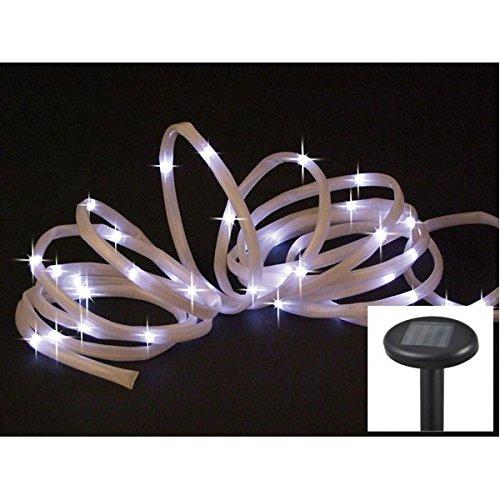 Solar LED Lichterschlauch,Länge=7m, Akku, Blink- und Dauerfunktion