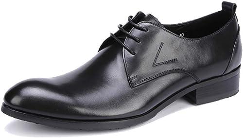 JCZR Chaussures en Cuir Décontractées pour Hommes Hommes Chaussures à Lanières en Cuir Polyvalentes  plus abordable