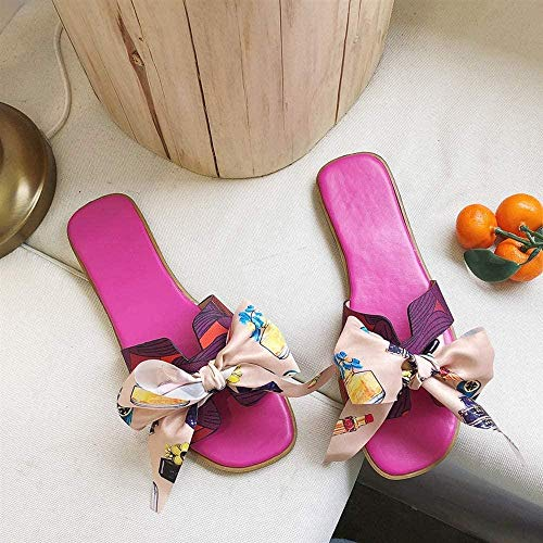 ZSW Moda Interior Mujer Zapatillas Inicio Antideslizante Zapatos Planos para Mujer Sala de Estar Zapatillas para Mujer (Color: Beige Tamaño: 39)- 38_Amarillo