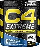 Cellucor C4 Extreme Pre Workout Powder Icy Blue Razz | Sugar Free Preworkout Energy Supplement for Men & Women | 200mg Caffeine + Beta Alanine + Creatine | 30 Servings
