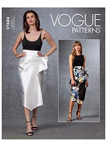 Vogue Pattern V1684A5 Damenrock, A5, Gr. 34-38-40, Papier, verschieden, (6-8-10-12-14)
