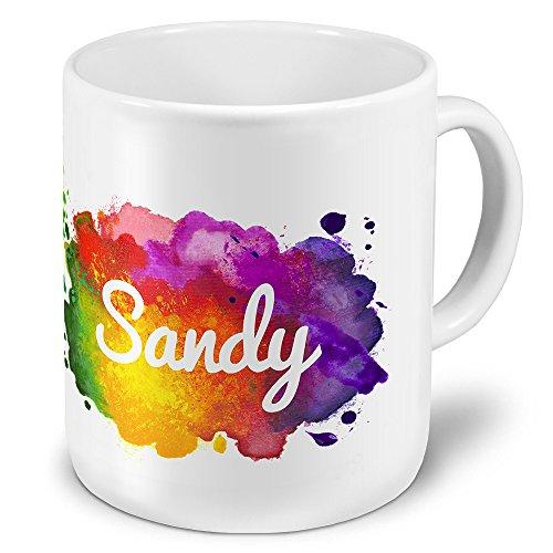 XXL Riesen-Tasse mit Namen Sandy - Motiv Color-Paint - Namenstasse, Kaffeebecher, Becher, Mug