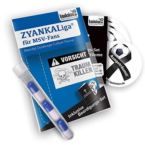 Duisburg Home Trikot ist jetzt ZYANKALIGA für MSV Fans by Ligakakao.de Puma Herren Home Shirt Replica mit Logo blau-weiß