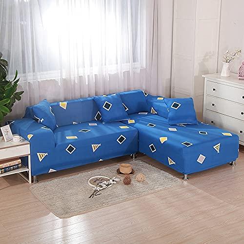 ASCV Einfarbige Universal Stretch Sofabezug für Wohnzimmer, Sofabezug Home Living Room Schutzhülle A2 2-Sitzer
