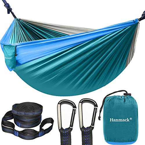 Camping Hammock, Portable Double Hammock with 2 Tree Straps(16+2 Loops), 2 Person Hammocks with 210T...