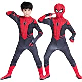 Spiderman Far From Home Costume for Boys Kids Superhero Suit Halloween Cosplay (Kids-L(Height 53-57in))