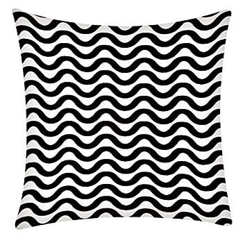 HYSGM 18 X18  Geometrict Lines Print Pillow Case Home Decoration Sofa Car Cushion Cover  F