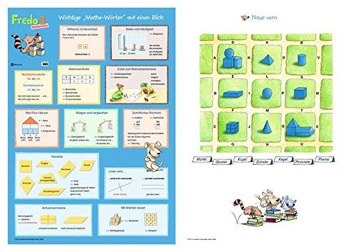 Fredo - Mathematik - Zu Ausgabe A (2015) und Ausgabe B / 3. Schuljahr - Poster: Mathe-Wörter/Spielplan Nase vorn