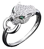 SaySure - Silver Rings Panther Gem Stone Spinel CZ Diamond -
