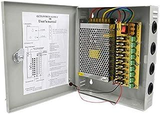 صندوق تزويد الطاقة ب 18 قناة، 12 فولت تيار مستمر، 15 امبير لكاميرات CCTV