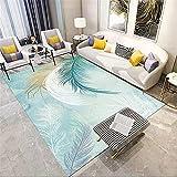 alfombra gaming suelo alfombra jardin exterior Alfombra azul Habitación para niños Decoración del piso Estera cómoda y duradera rectangular cuadros cabecero cama matrimonio 40X60CM 1ft 3.7'X1ft...