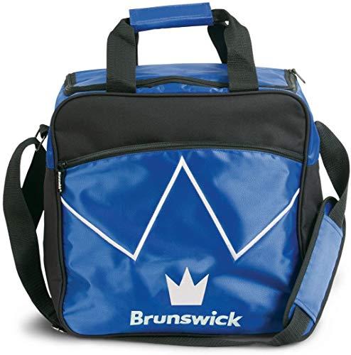 Bowling-Ball Tasche Brunswick Blitz Single Tote für Bowling-Kugel und Bowling-Schuhe , Farbe:Blau