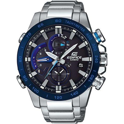 CASIO Herren Chronograph Quarz Uhr mit Edelstahl Armband EQB-800DB-1AER