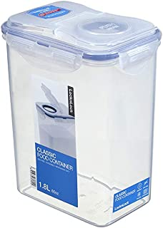LocknLock HPL813F Food Container With Lid, Clear Blue, W 11.0 x H 19.5 x L 15.5 cm, 1.8, Rectangular, Polypropylene