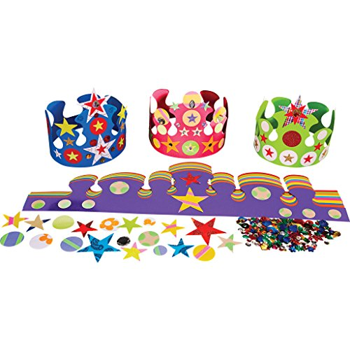 Springboard Crown Making Collage Craft Activity Pack (Pack of 30)