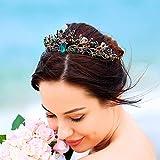 Unicra Hochzeit Kronen Tiaras Kostüm Strass Gold Blume Königin Krone Braut für Damen Mädchen