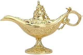 2 Lampade Vintage di Diverse Dimensioni Aladino FLAMEER 2 Pezzi di Lampade in Ottone A Olio