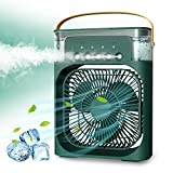 NTMY Portable Air Conditioner Fan, Mini Evaporative Air Cooler with 7 Colors LED Light, 1/2/3 H...