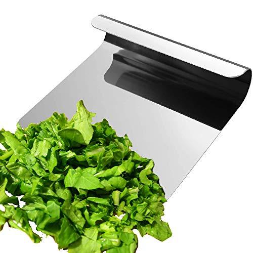 HunDun Gemüseschaufel, Universalhelfer, Küchenhelfer, Teigkarte, Spachtel für die Küche, spülmaschinengeeignet, Edelstahl,12 * 14cm