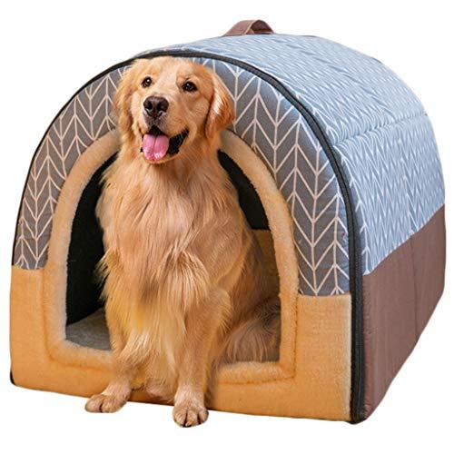 Haustierbett, Großer Hund Hundehütte Winter Warm halten Waschbar Innen Hundehütte Vier Jahreszeiten Hundehöhle Iglu,F,XXL92*68 * 72cm