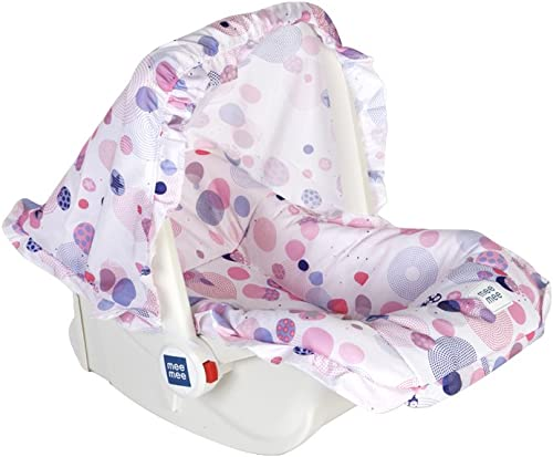 Mee Mee 5 in 1 Baby Cozy Carry Cot Cum Rocker (Pink)