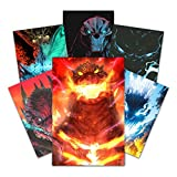HK Studio Godzilla Poster, Vibrant Color Godzilla Stickers, Movie Poster for King of The Monsters 7.8' x 11.8' Pack 6