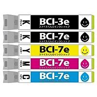 CA社 BCI-7e+3eBK 5色セット 互換インクカートリッジ【増量】【ICチップ付(残量表示機能付)】