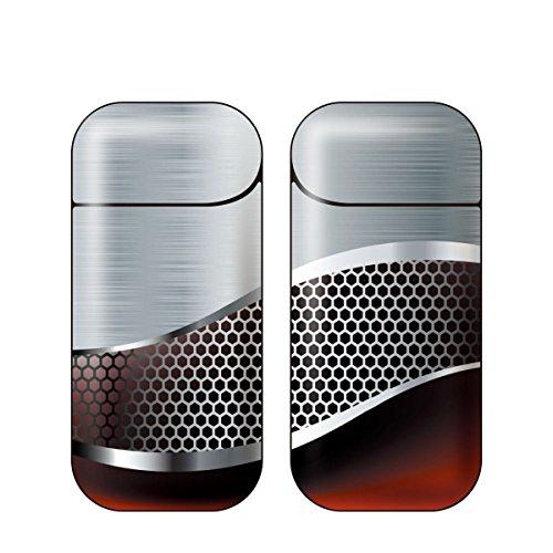 iQOS アイコス 専用スキンシール 裏表2枚セット カバー ケース 保護 フィルム ステッカー デコ アクセサリー 電子たばこ タバコ 煙草 喫煙具 デザイン おしゃれ アイコスシール iQOSシール METAL メタル モチーフデザインコレクション M