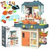 Kinder-Küchenspielset Kinderküche Spielküche Spielzeugküche Spielzeug KP8080 Zubehörteile Dampf NEU