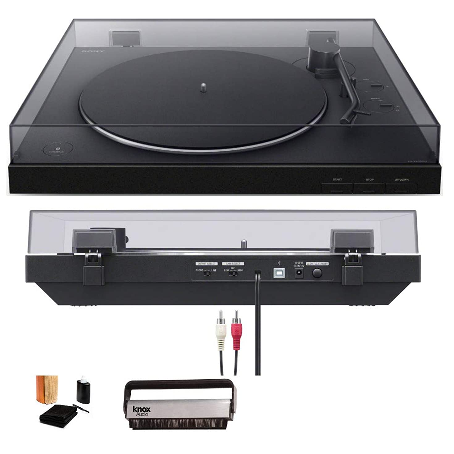 Sony PS-LX310BT Wireless Turntable with Bluetooth Connectivity Bundle (Includes Vinyl Record Cleaning Kit & Vinyl Brush Cleaner)