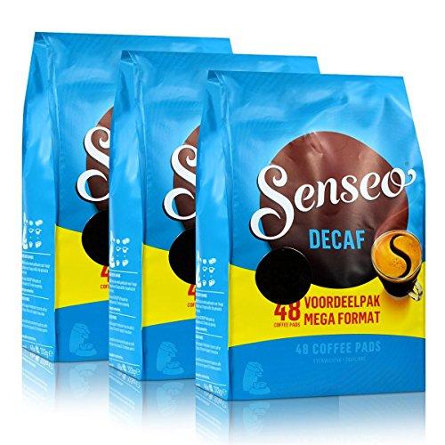 Senseo Décaféiné, Lot de 3, 3 x 48 Dosettes de Café