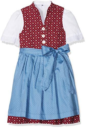 Berwin & Wolff Baby-Mädchen 586160 Kleid, Mehrfarbig (Rot/Blau 2832), 80